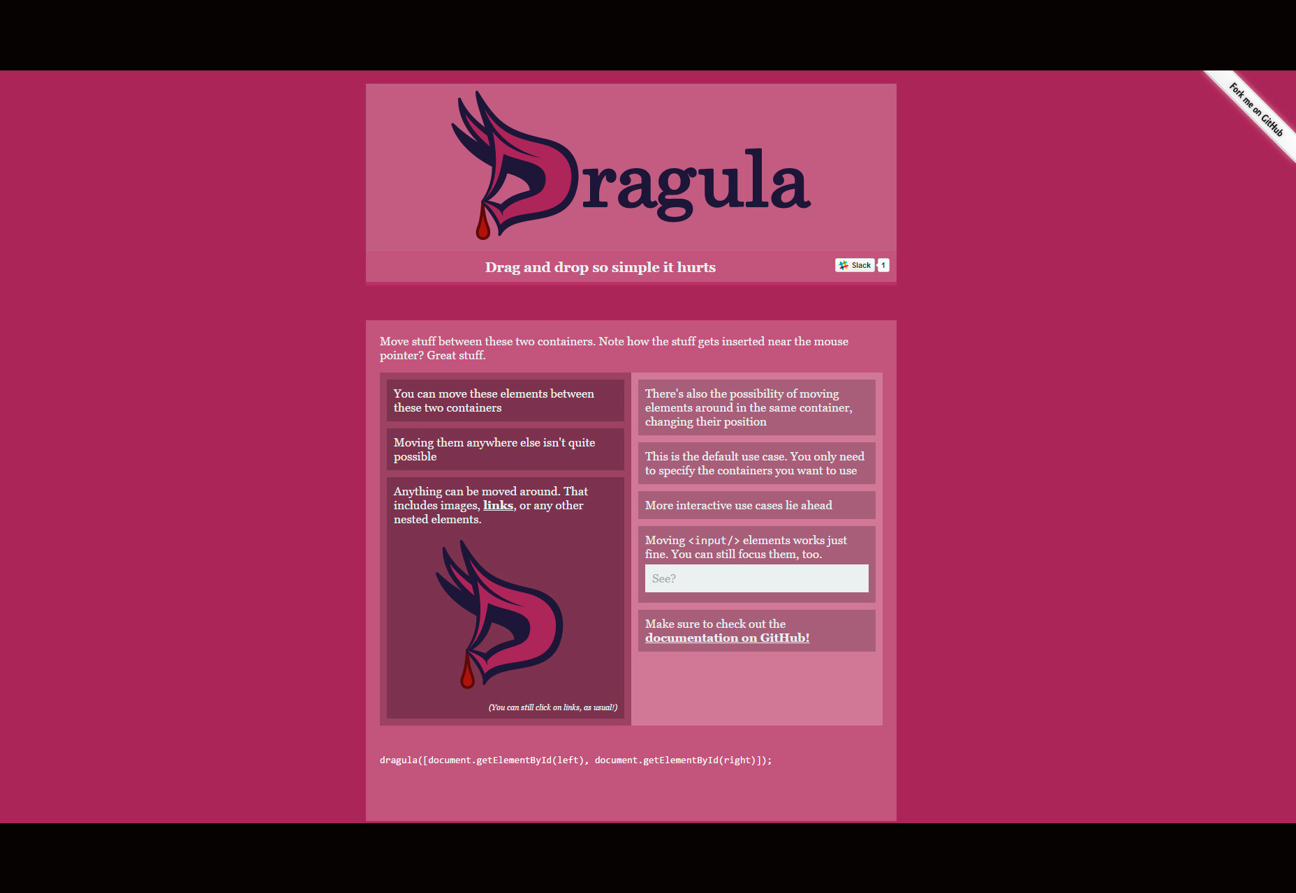 Dragula: Biblioteca simple de arrastrar y soltar
