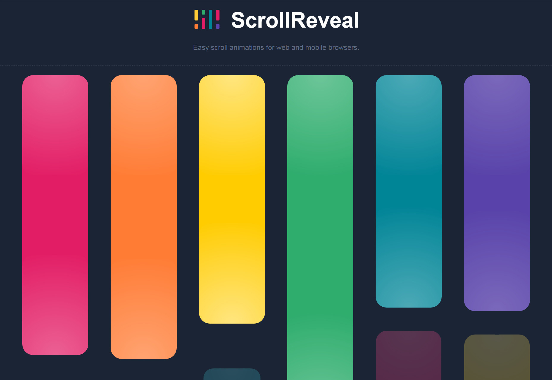 ScrollReveal: JavaScript Web y Mobile Scroll-to-Load