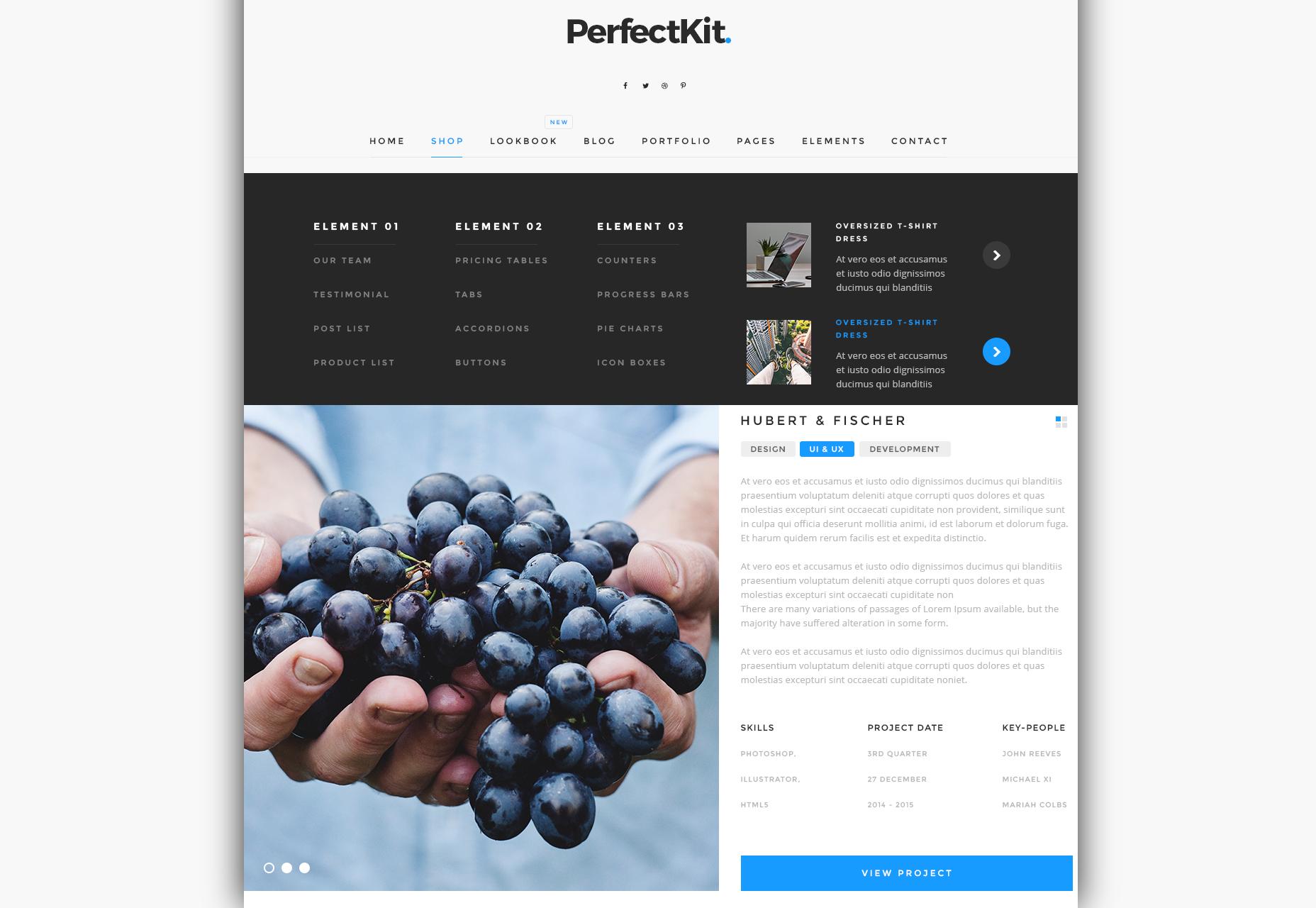Kit perfecto: Kit moderno de interfaz de usuario oscura y ligera