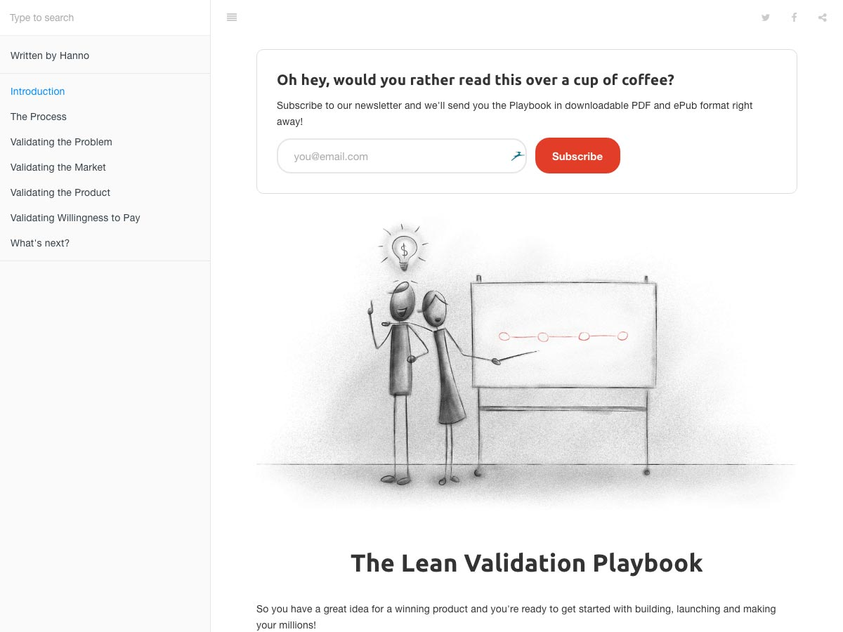 Lean validatie playbook