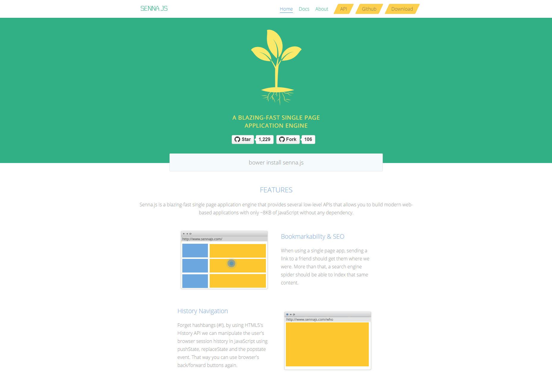 Senna.js: motor de aplicaciones de una sola página