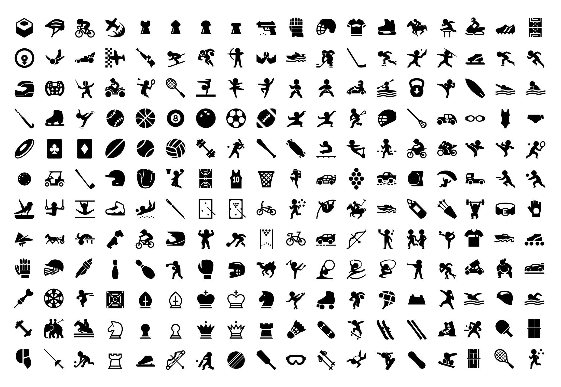 Un conjunto de más de 5800 iconos llenos del deporte