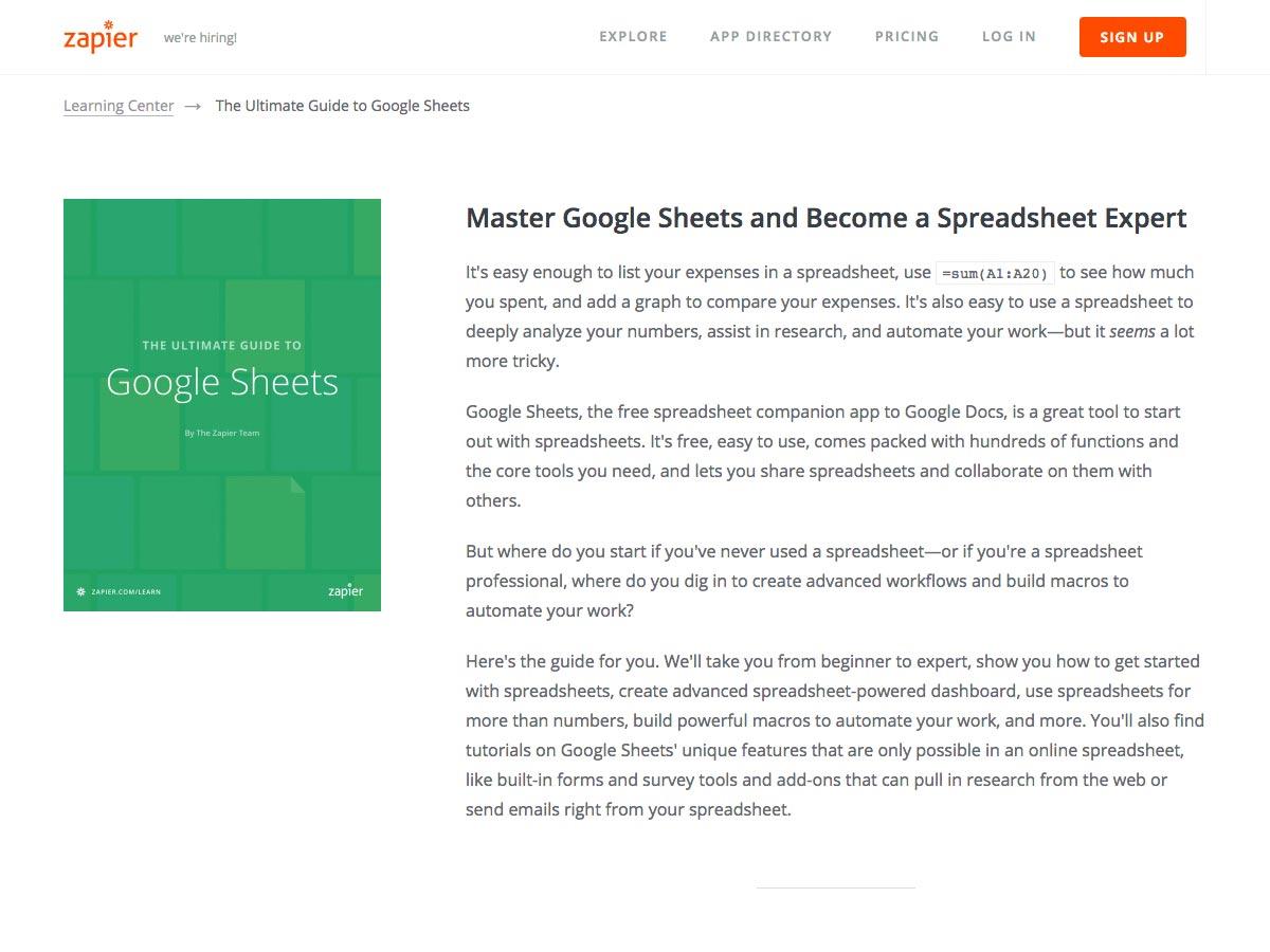 guía definitiva para las hojas de google
