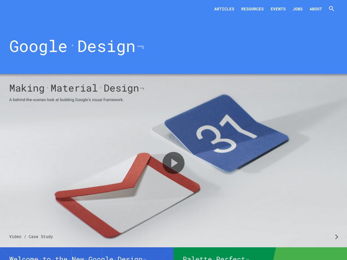 diseño de google