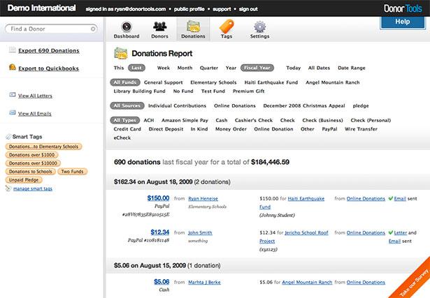 Interfaz de la aplicación Donner Tools