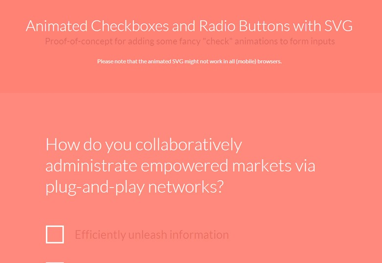 Animated Checkboxes