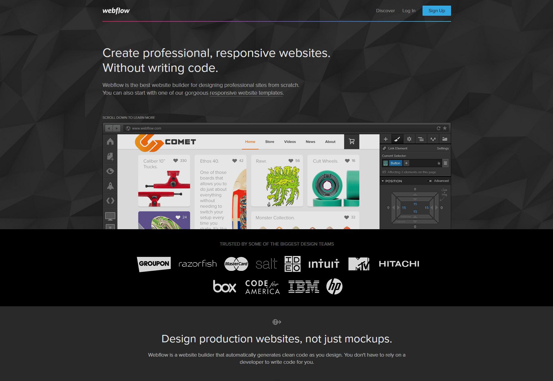 Webflow: Ontwerpgerichte Website Builder