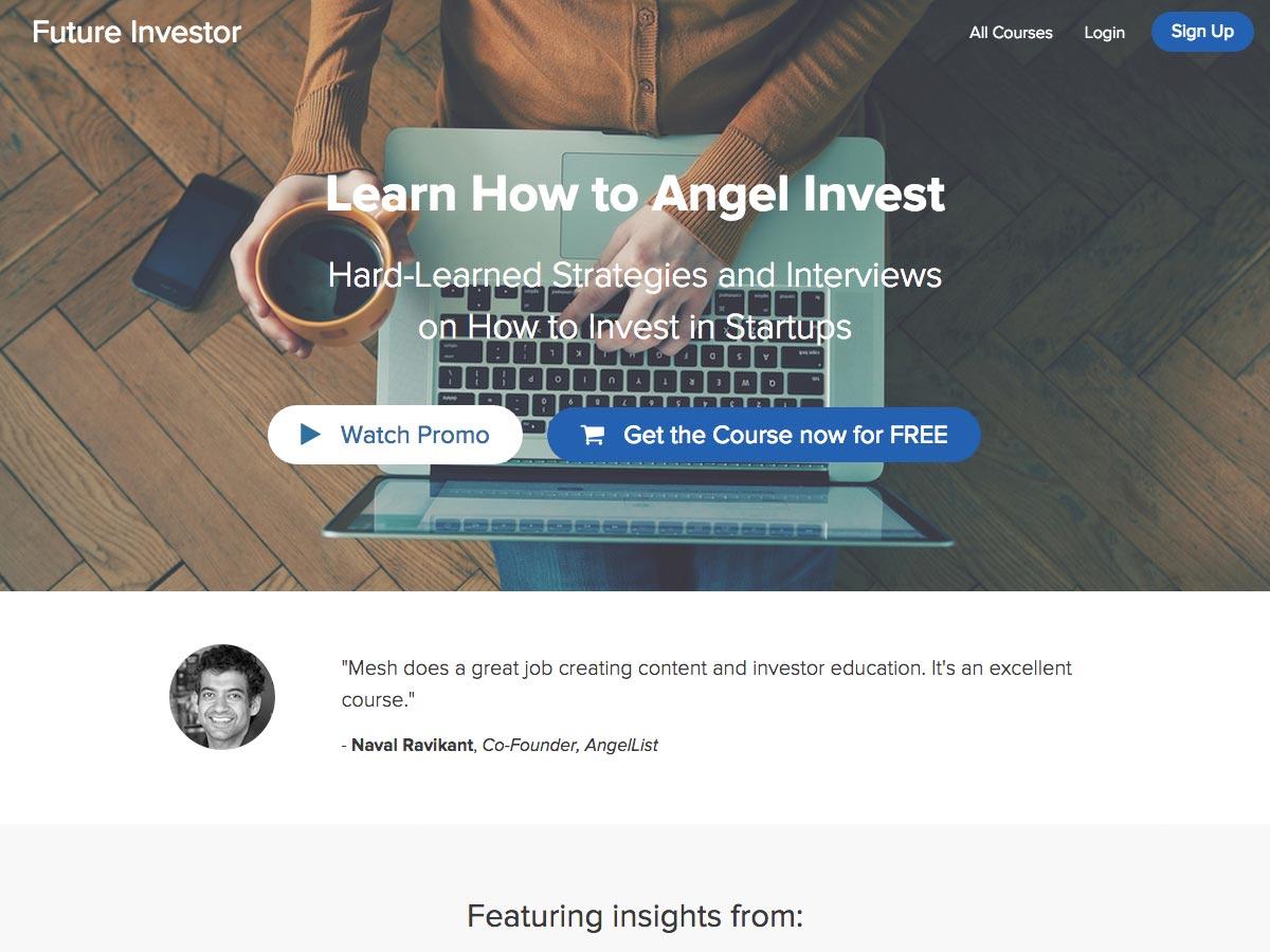 naučit se angel investovat
