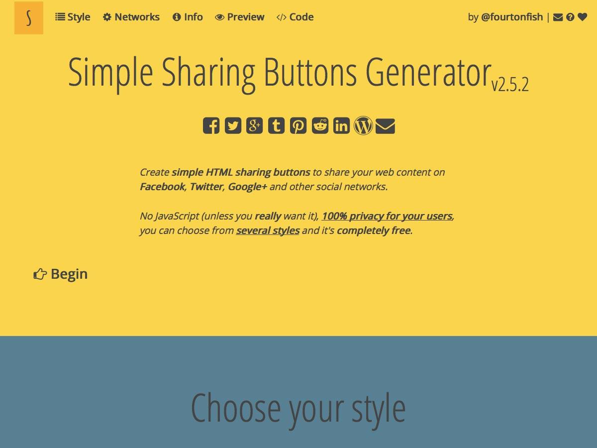 jednoduchý generátor sdílených tlačítek