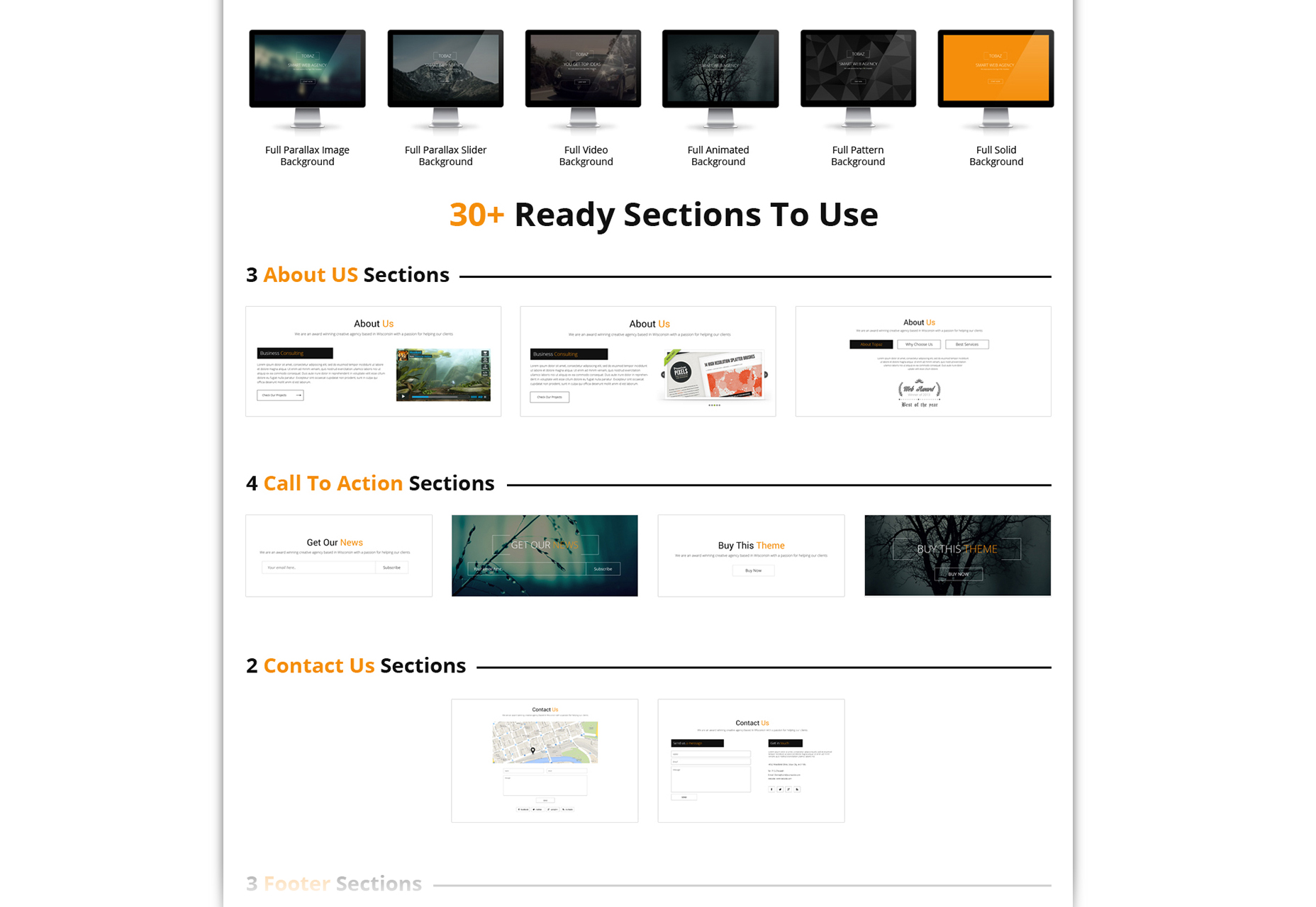 Sertin: multi-purpose One-Page Bootstrap PSD-sjabloon