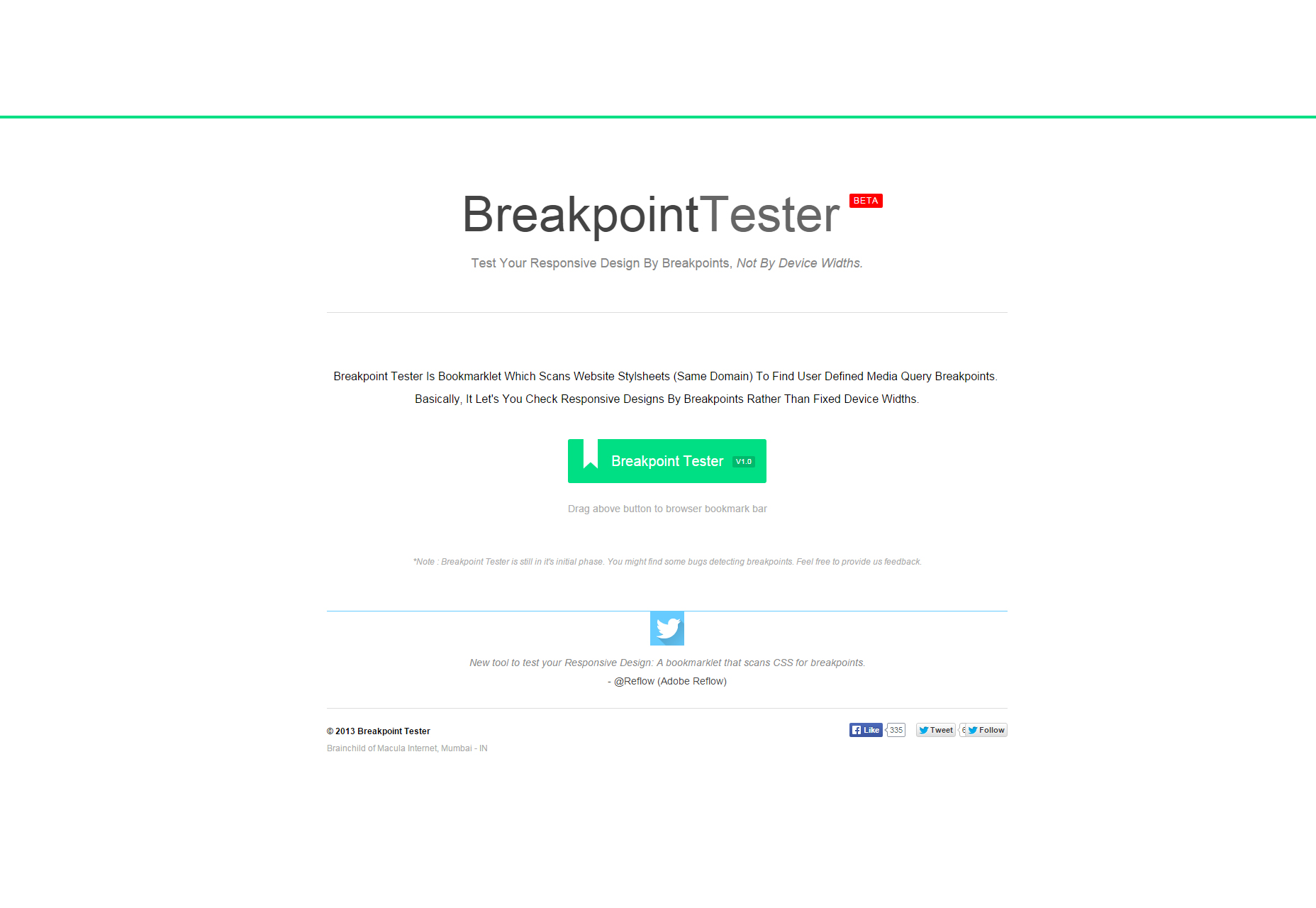 BreakpointTester: Breakpoint Test Bookmarklet para diseños receptivos