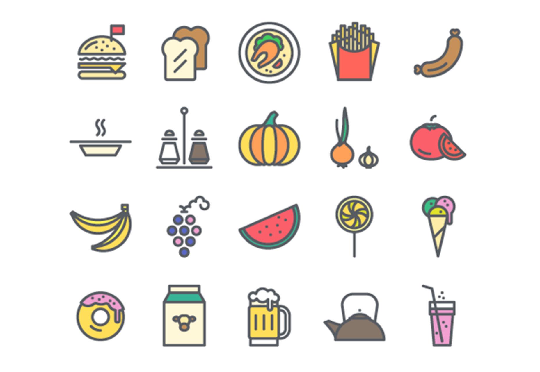 ikony potravin