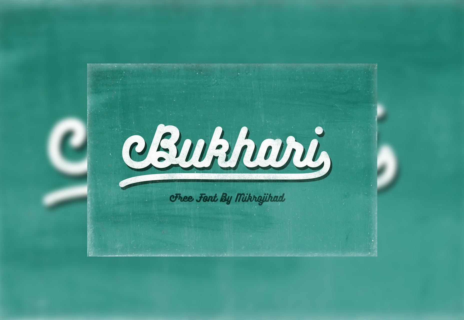 Bukhari: fuente gratuita de Bold Script
