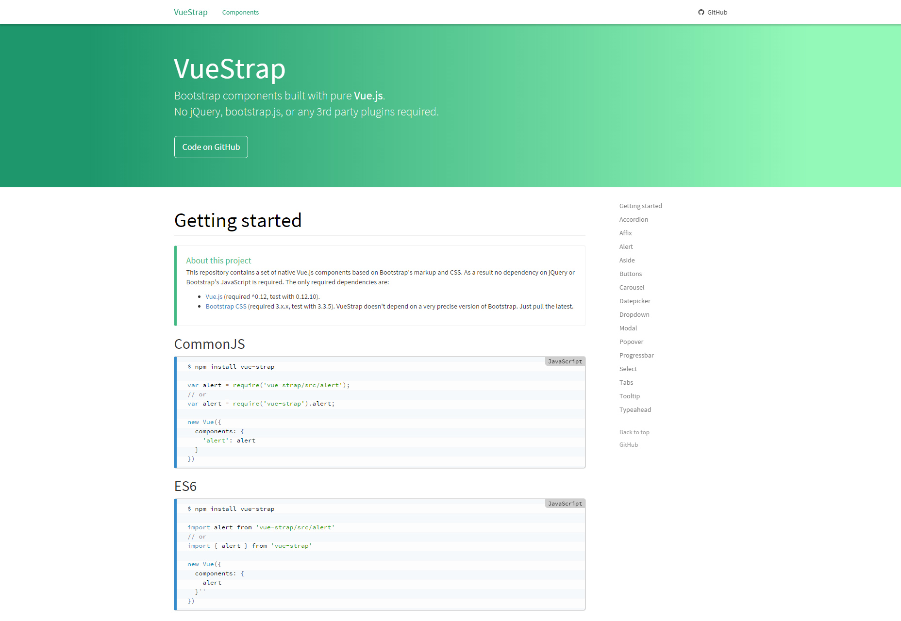 VueStrap.js: componentes JavaScript Bootstrap