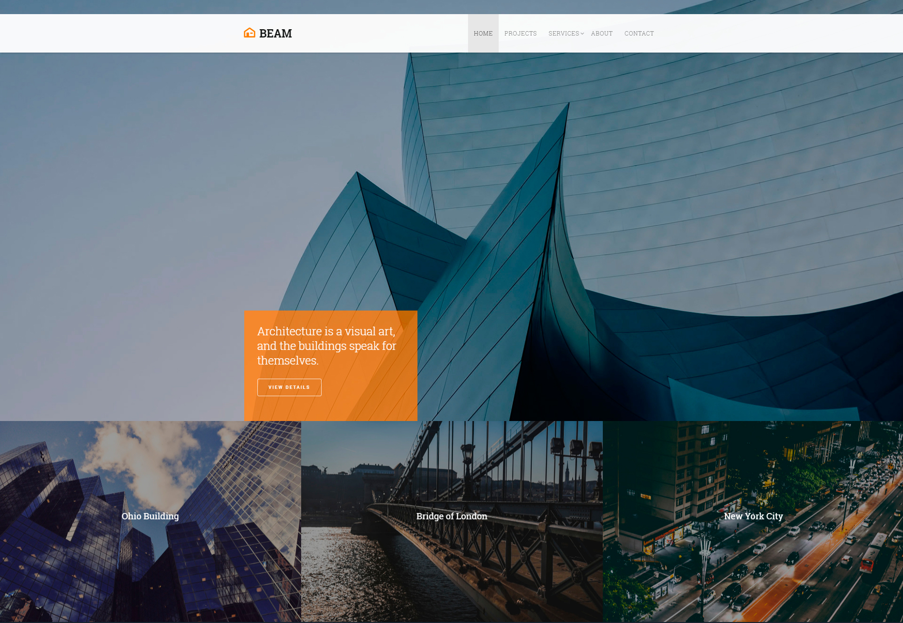 Beam: Corporate Portfolio Bootstrap Template