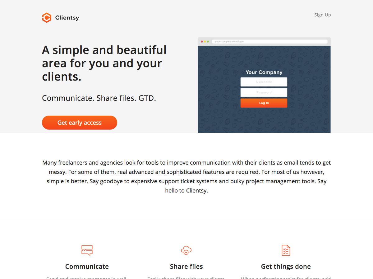 página de inicio customersy