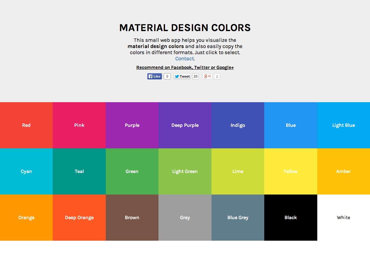colores de diseño de materiales