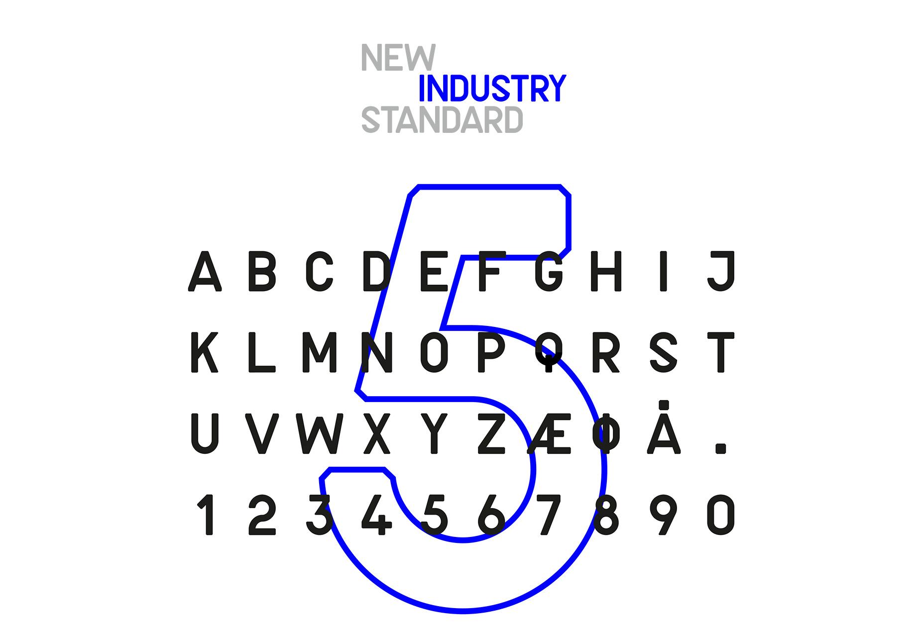 Nueva industria: tipografía de aspecto técnico