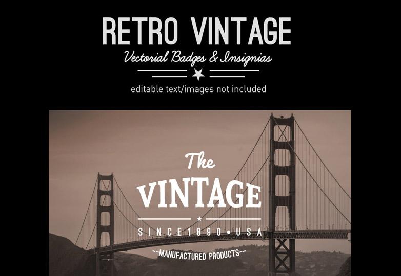 Retro vintage insignias