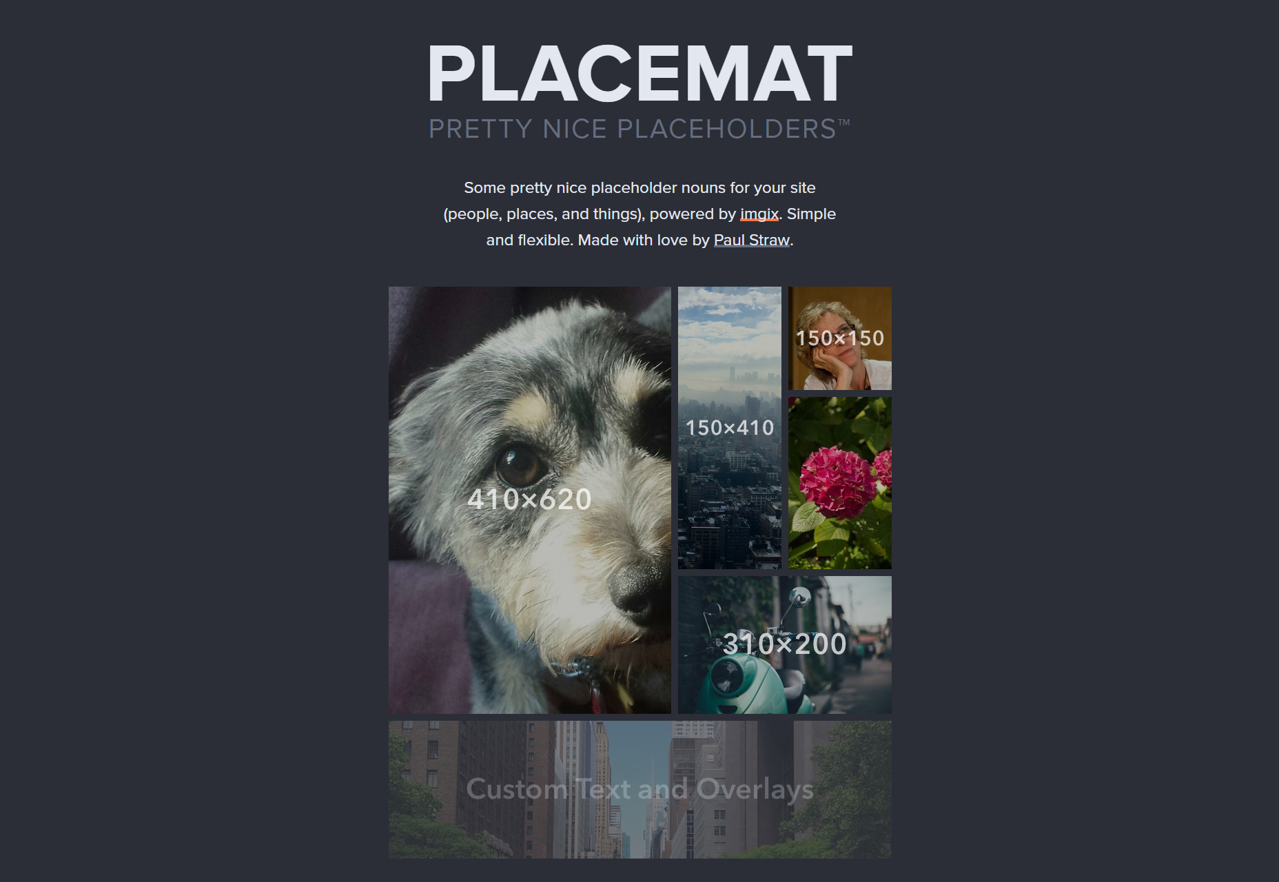 Placemat: mooie URL Afbeelding Placeholders