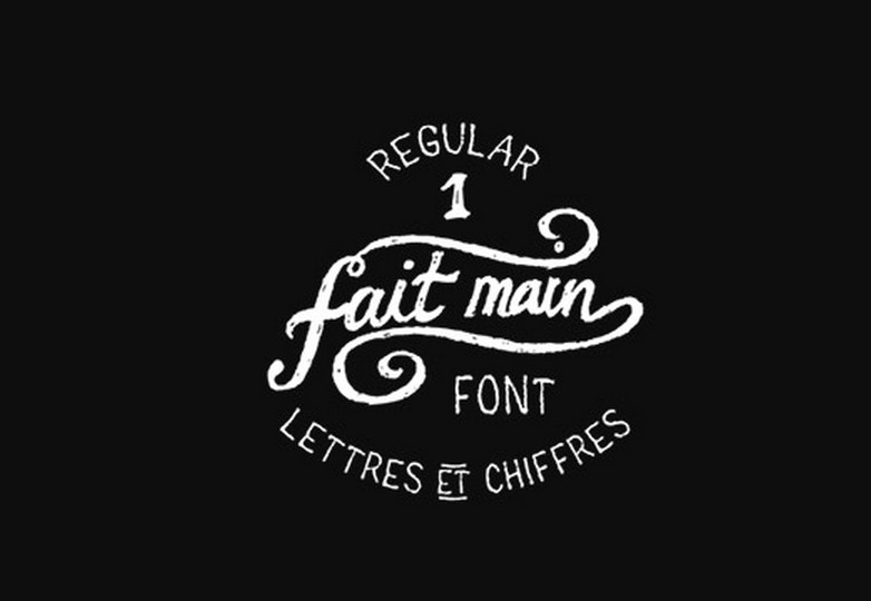 Fait main 1 font