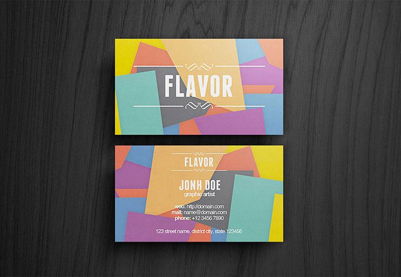 tarjeta de sabor