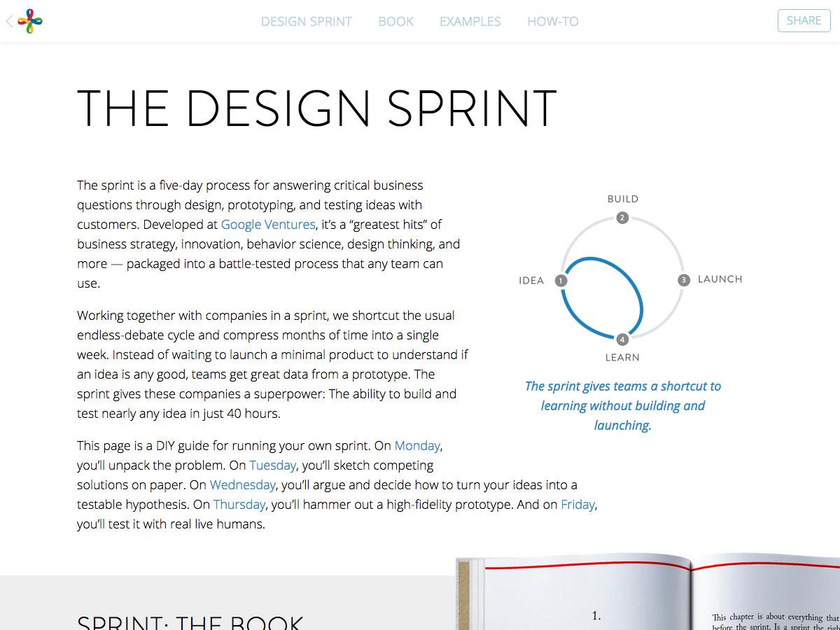 el sprint de diseño