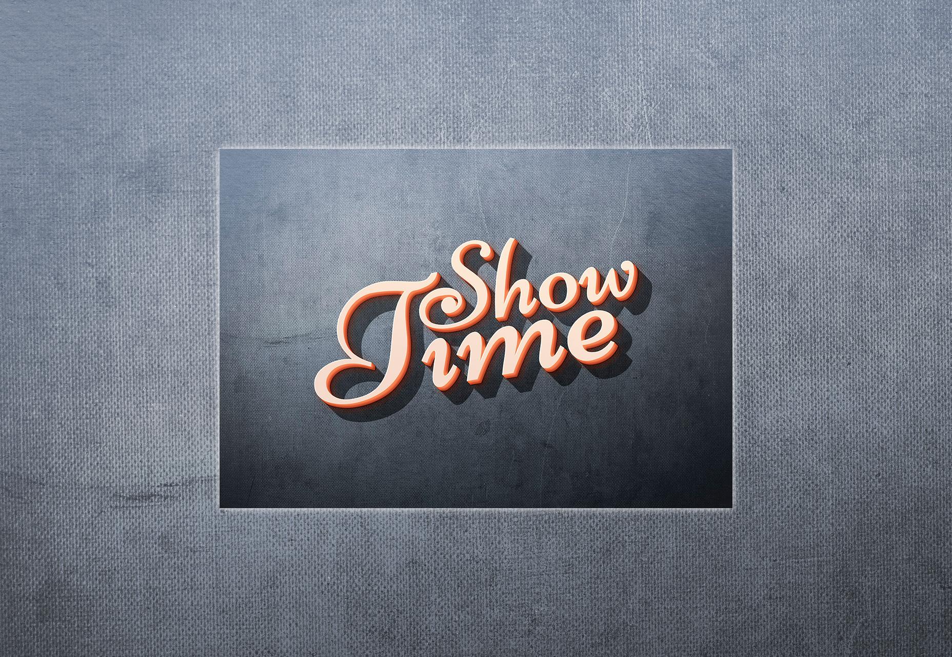 Showtime: atractivo efecto de texto en 3D