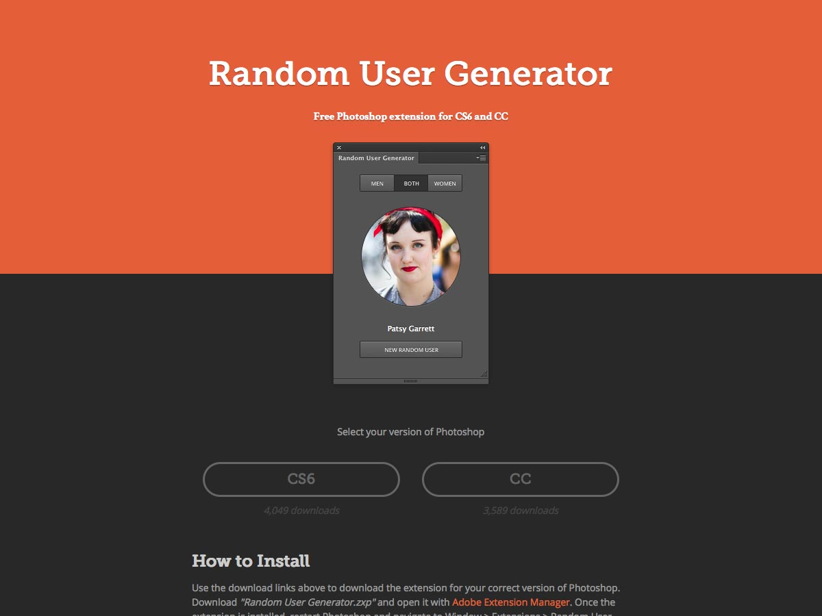 generador de usuario aleatorio