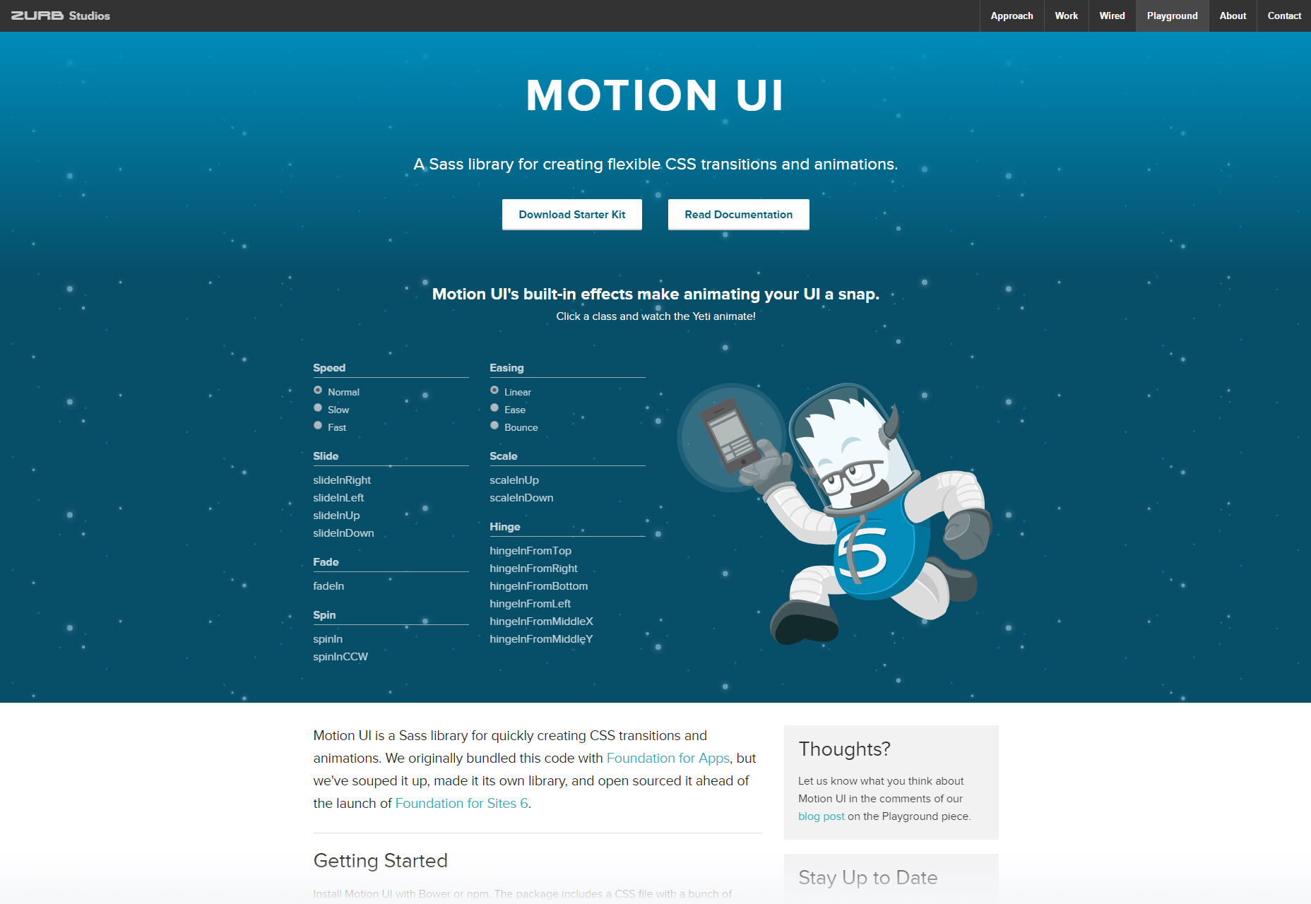 Motion UI: Element CSS Animations Library