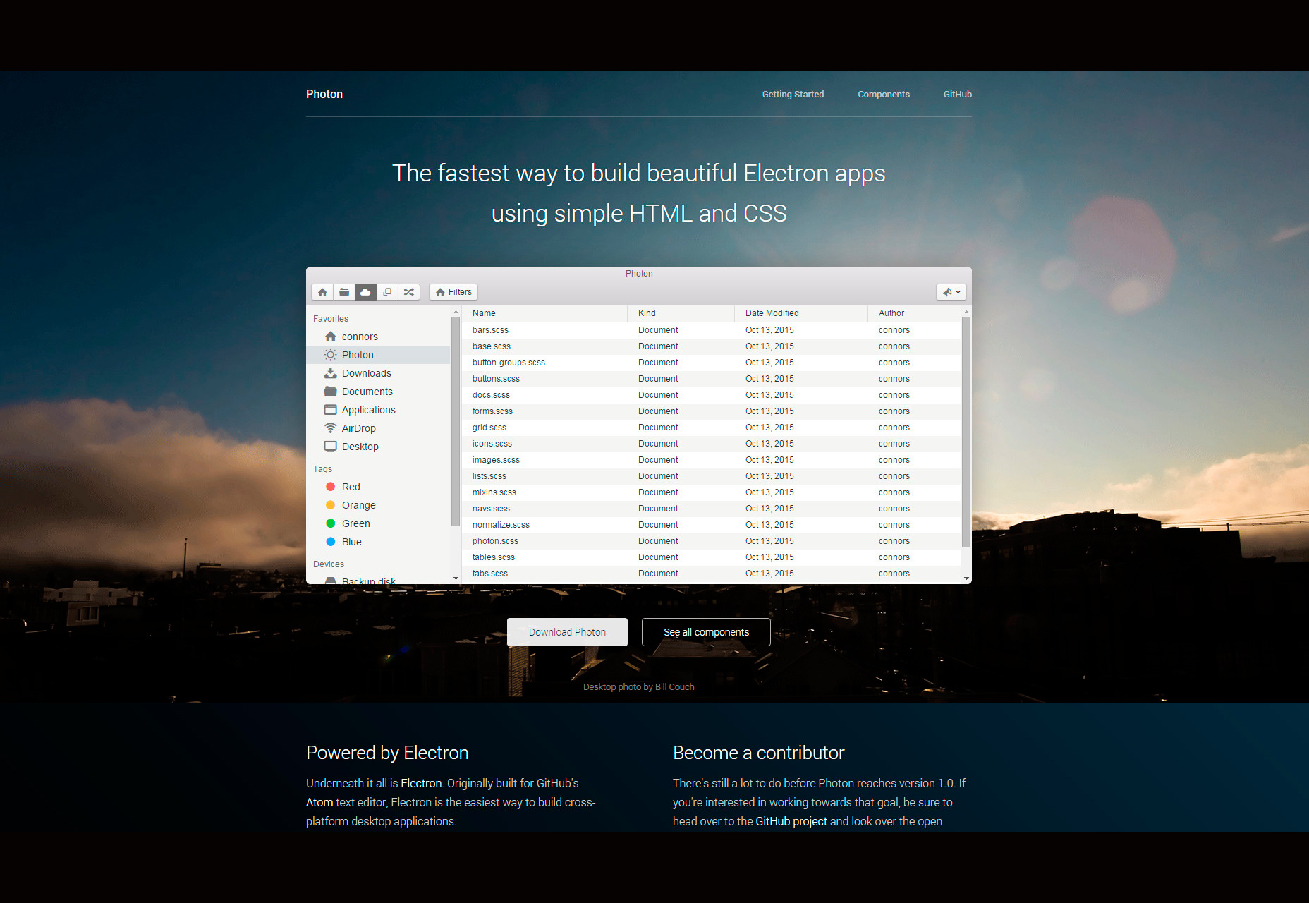 Photon: een Electron Apps UI Toolkit