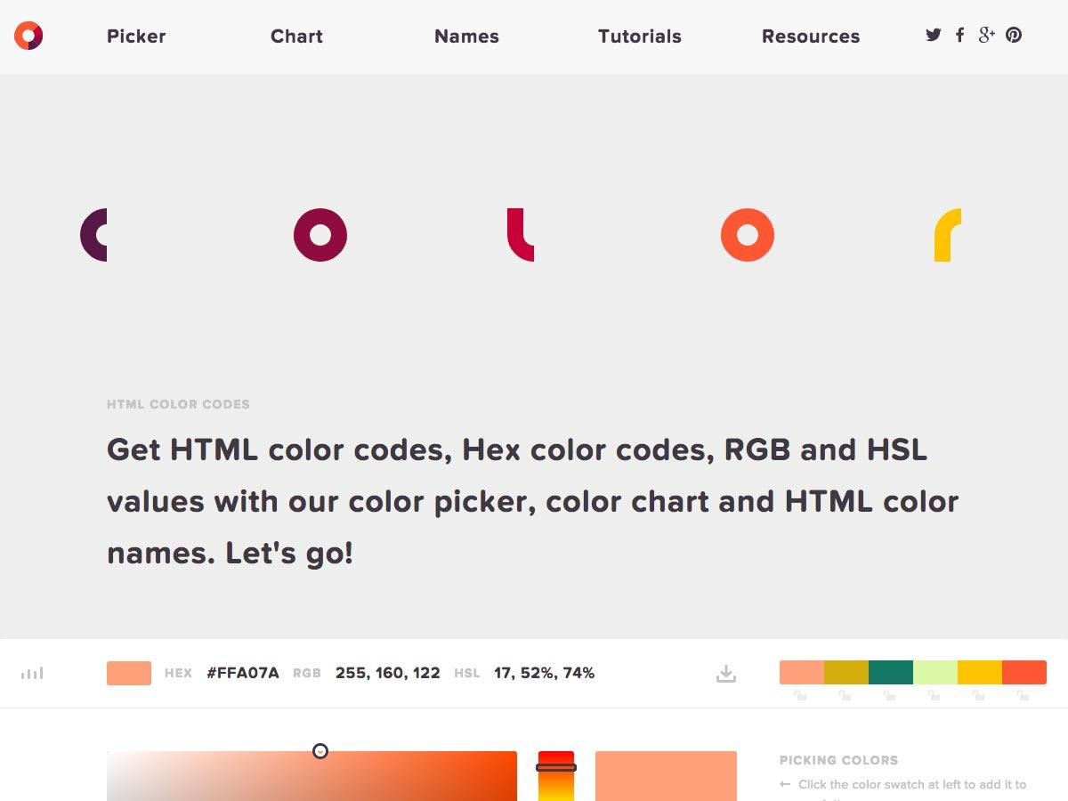 códigos de color html