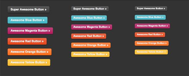 botones superawesome