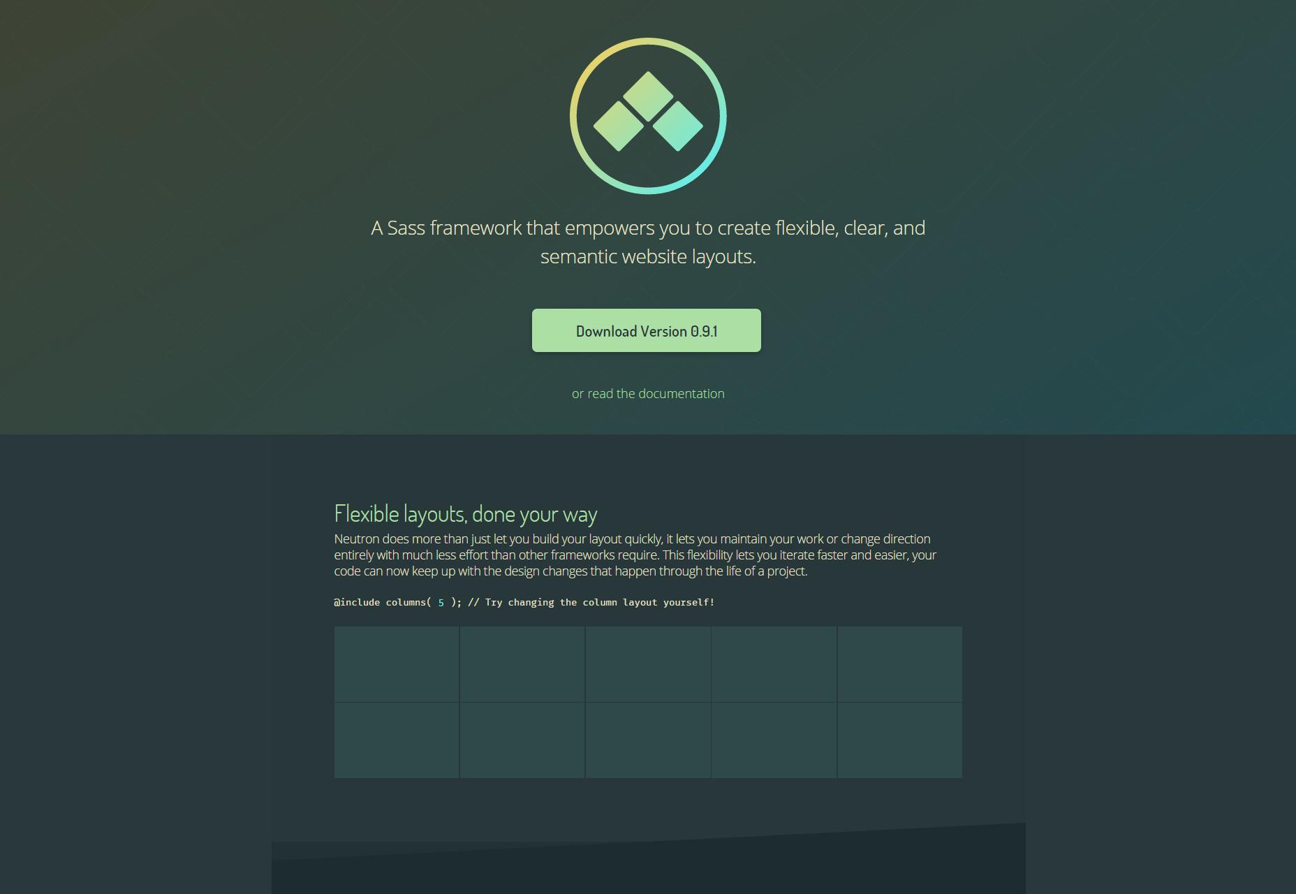 Neutron: Sass Framework voor Website Layouts