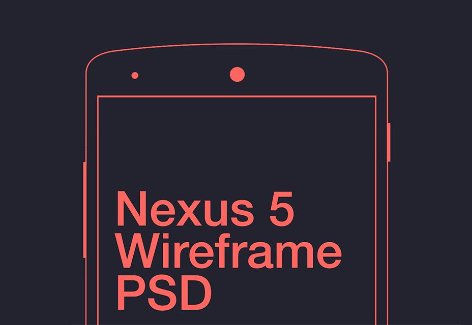 Nexus 5 Wireframe
