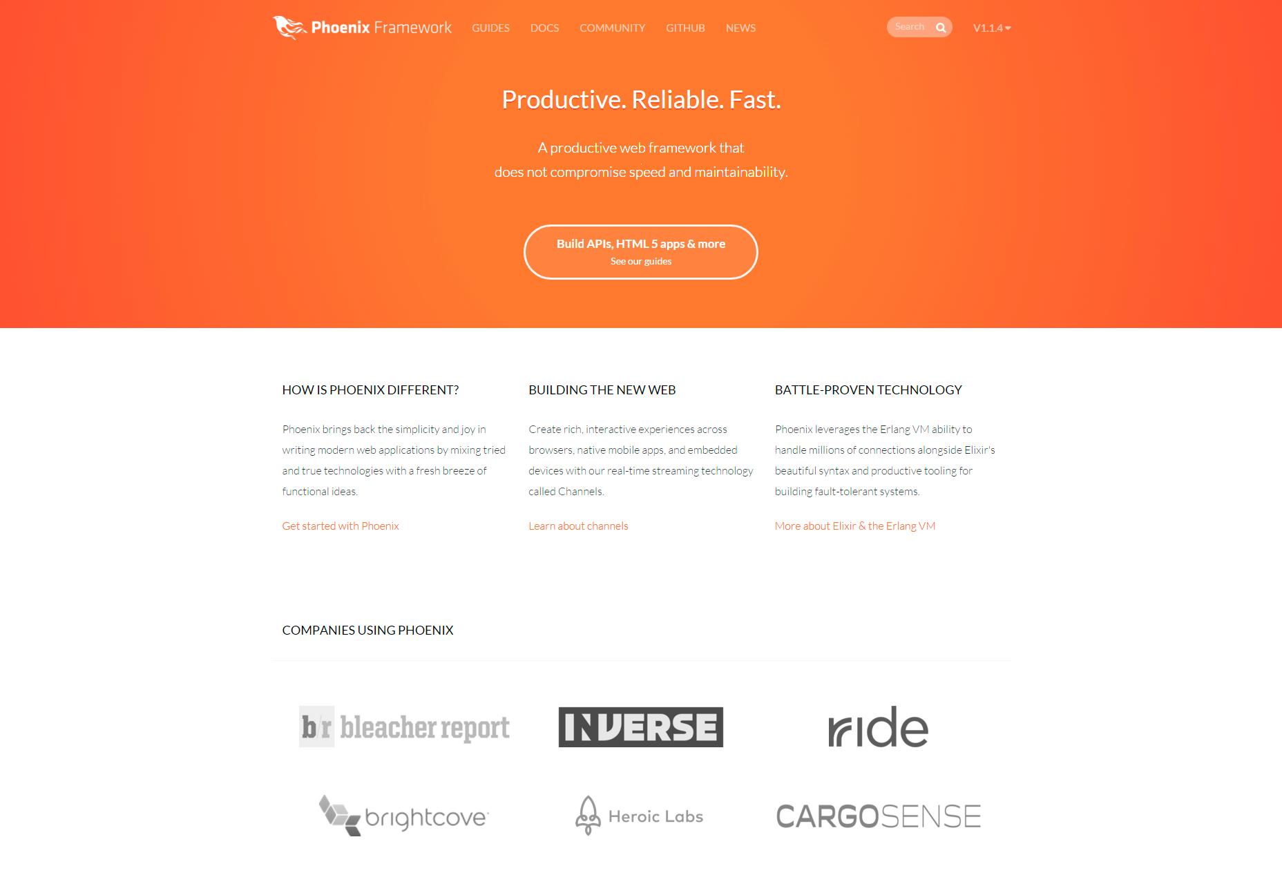 Phoenix: Produktivní webový rámec