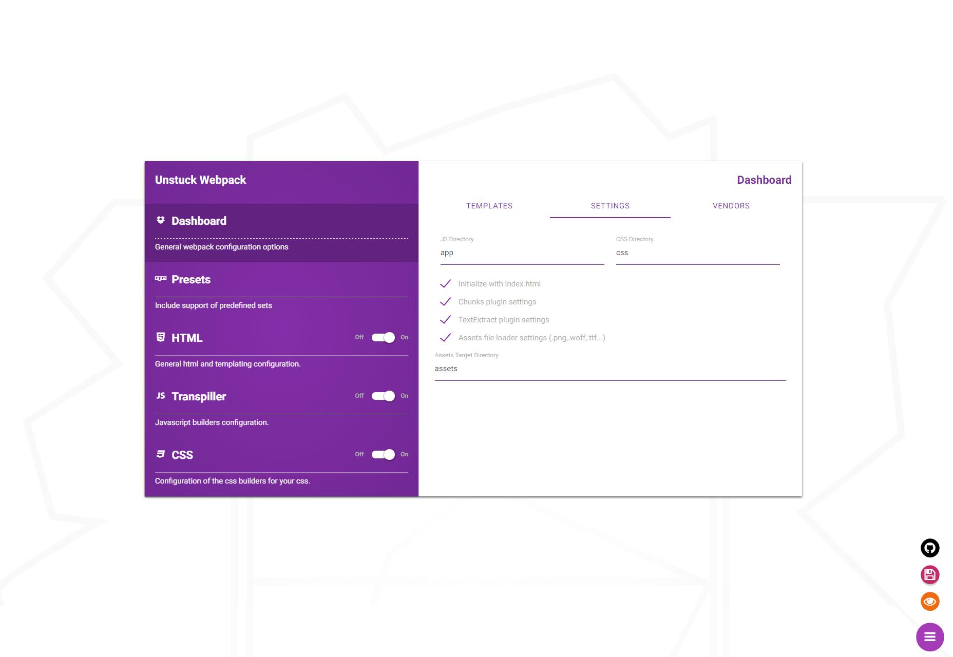 Unstuck Webpack: Mukautettu Webpackin luominen GUI-työkalu
