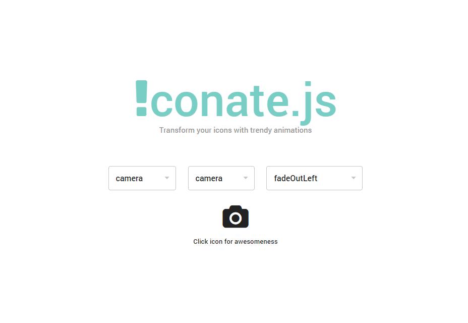Iconate.js: Transiciones de iconos de JavaScript y CSS