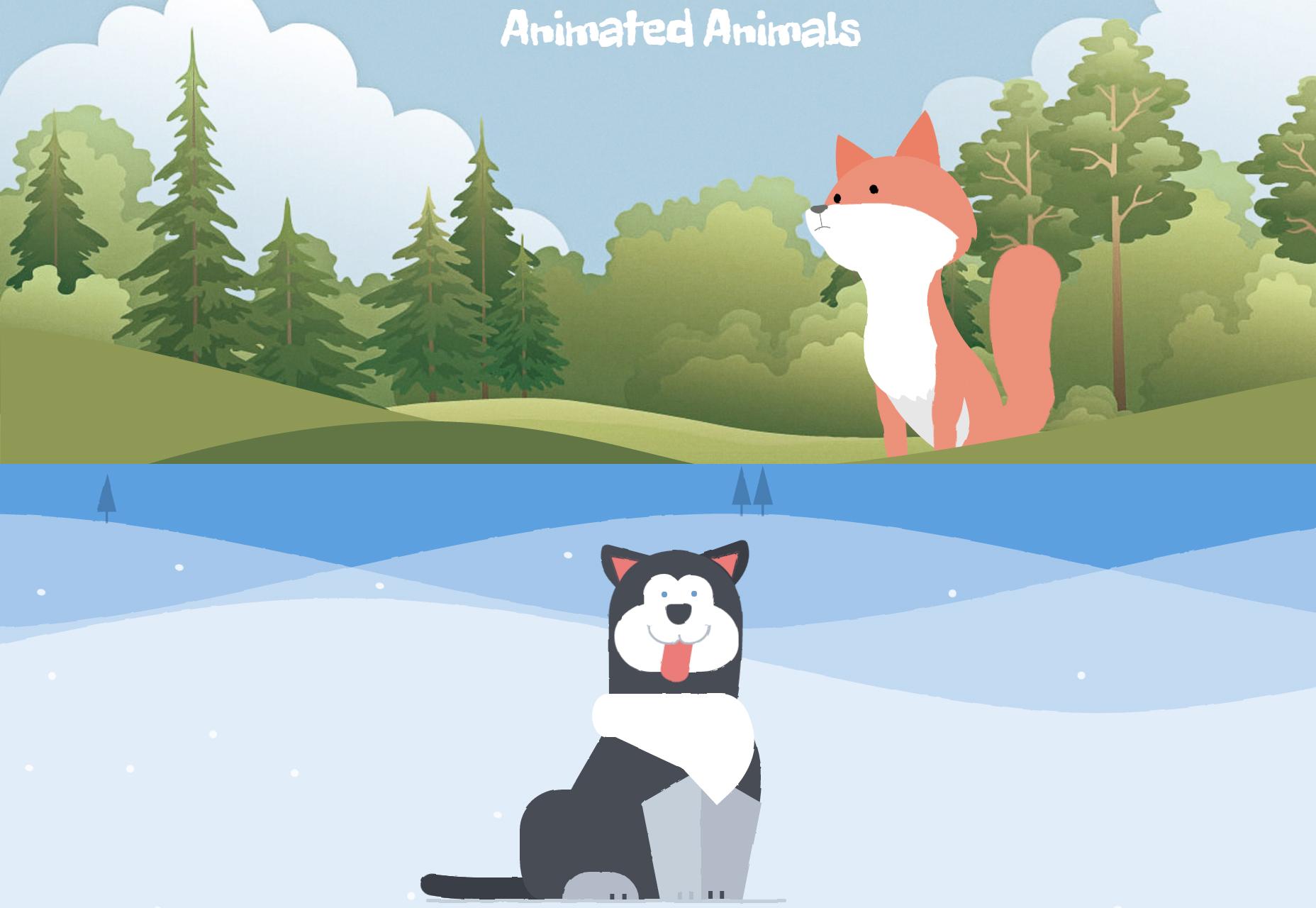 Animoituja eläimiä CSS: ssä ja SVG: ssä
