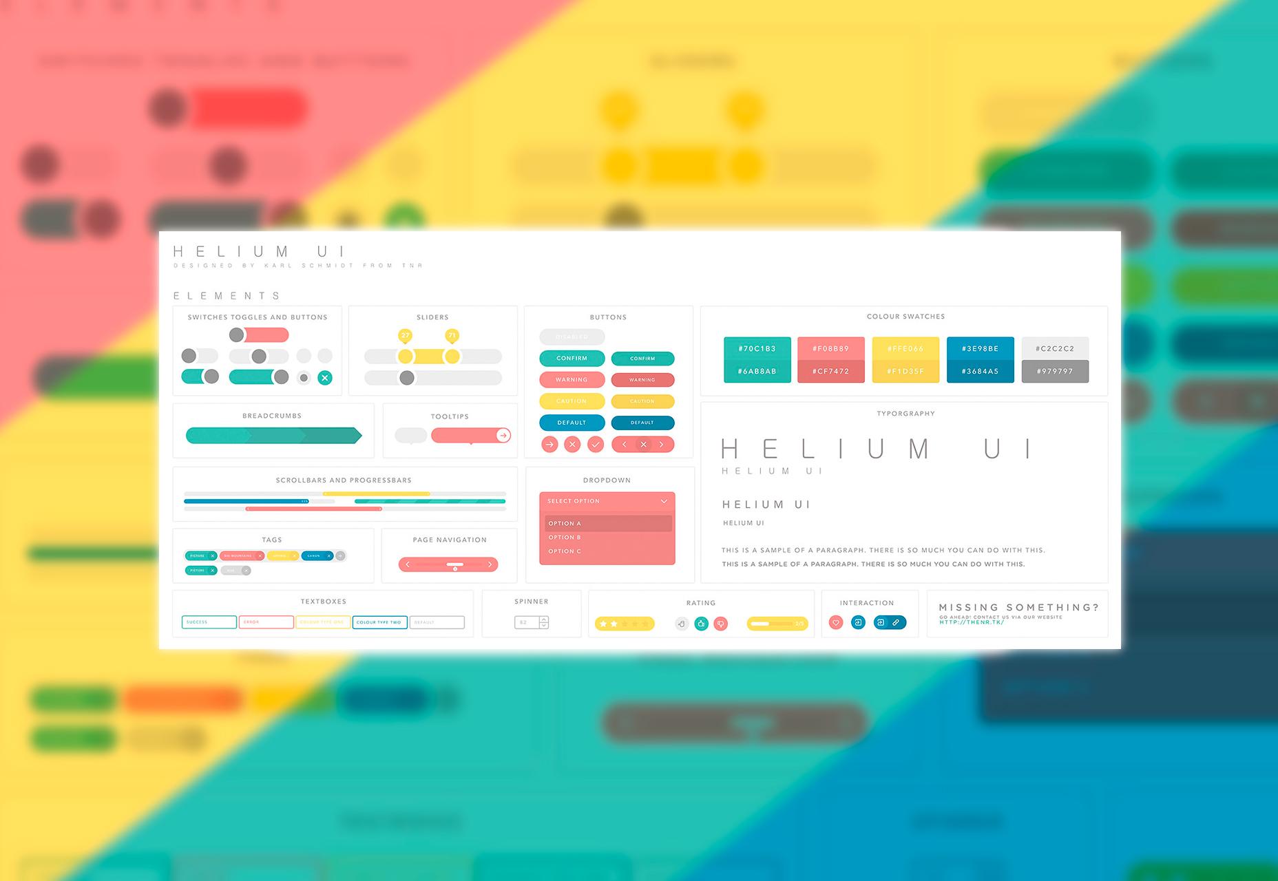 UI de helio: Kit de UI de dibujo colorido