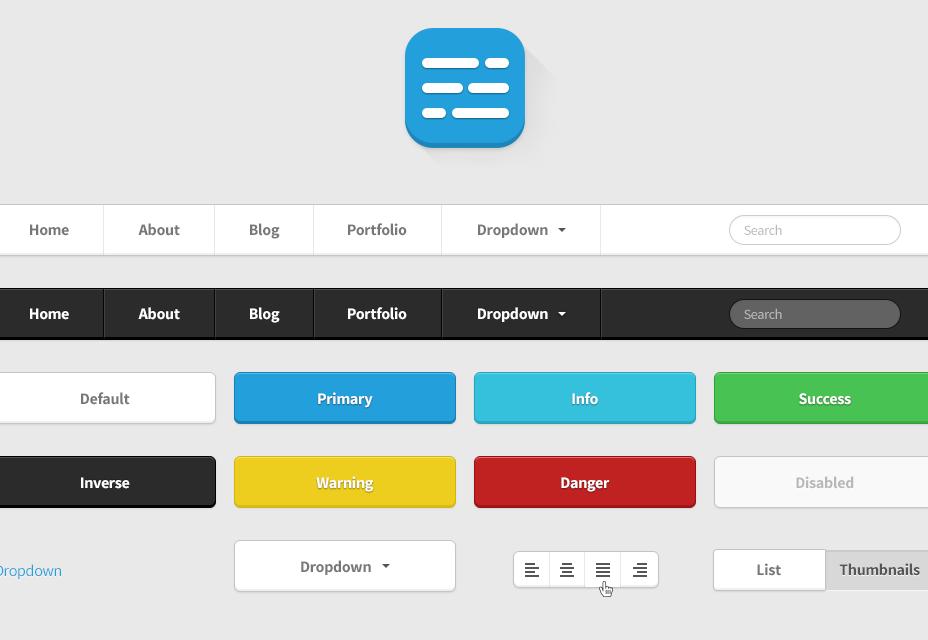 Kit de interfaz de usuario HTML Twitter Bootstrap