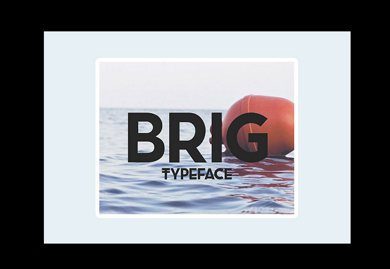 Brig Typeface