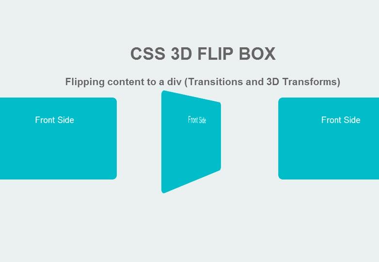 CSS 3D flip box