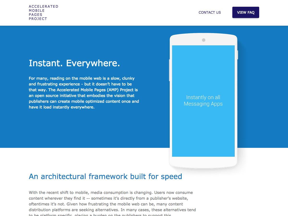 Proyecto de páginas móviles aceleradas