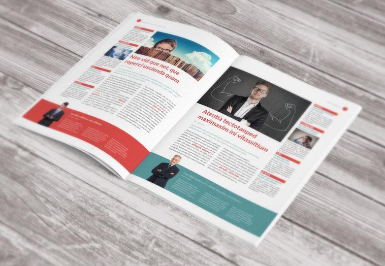 Business indesign newsletter