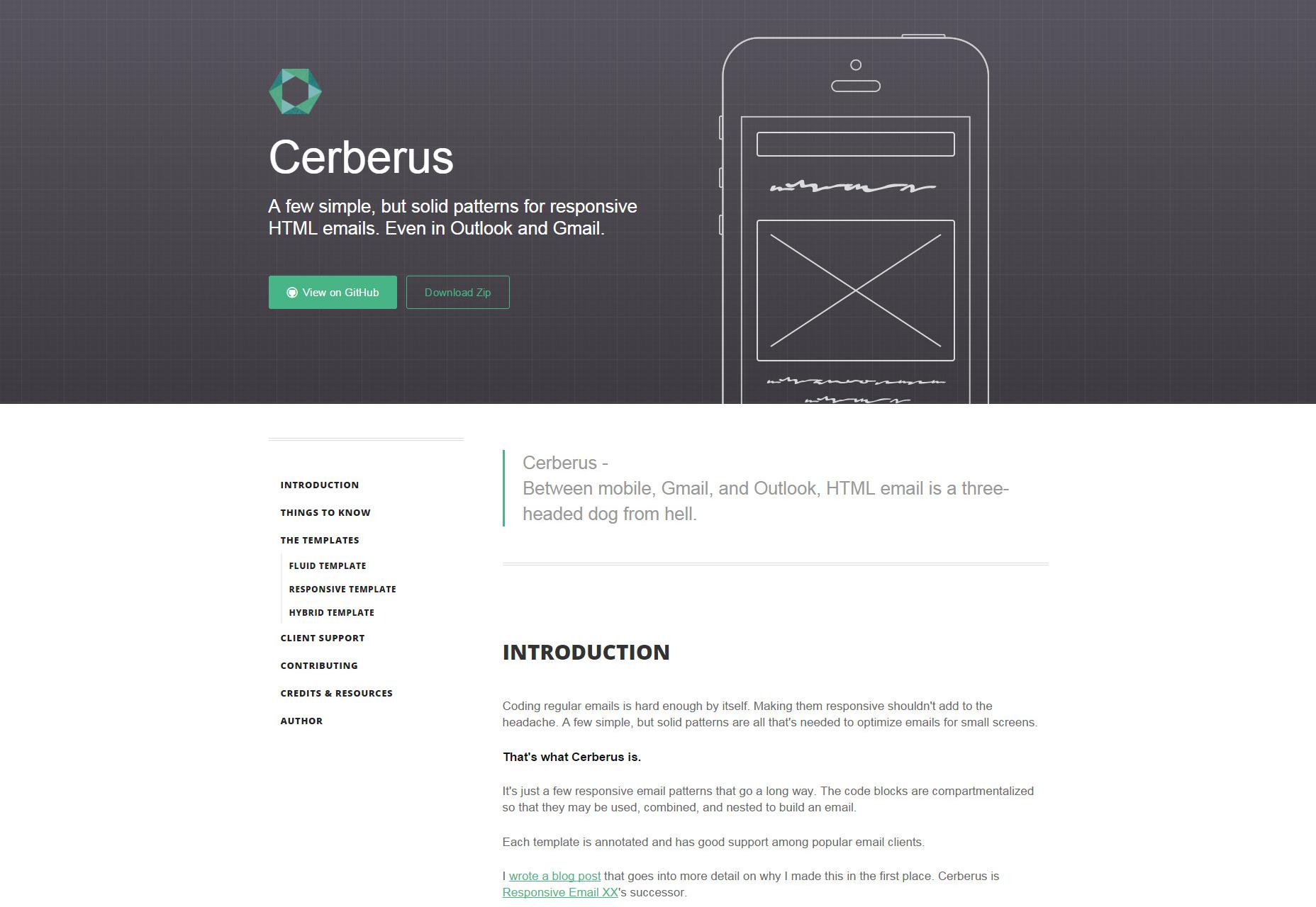 Cerberus: patrones para las plantillas de correo electrónico HTML receptivo