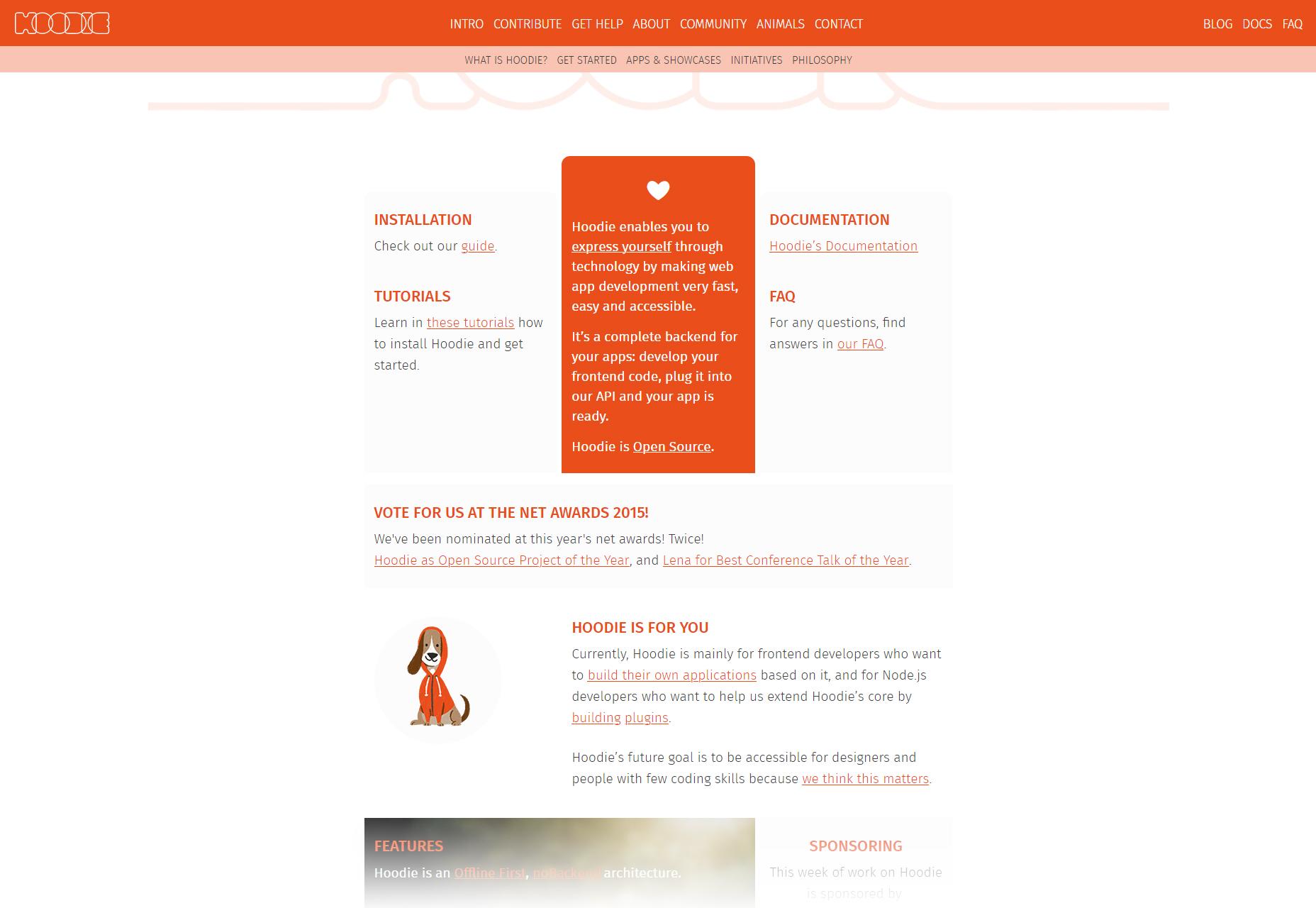Hood.ie: Software de construcción de aplicaciones Web e iOS
