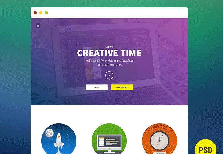 Creative time PSD template