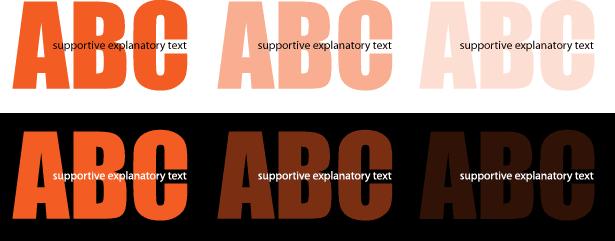 ejemplos de cómo el texto grande se puede desvanecer