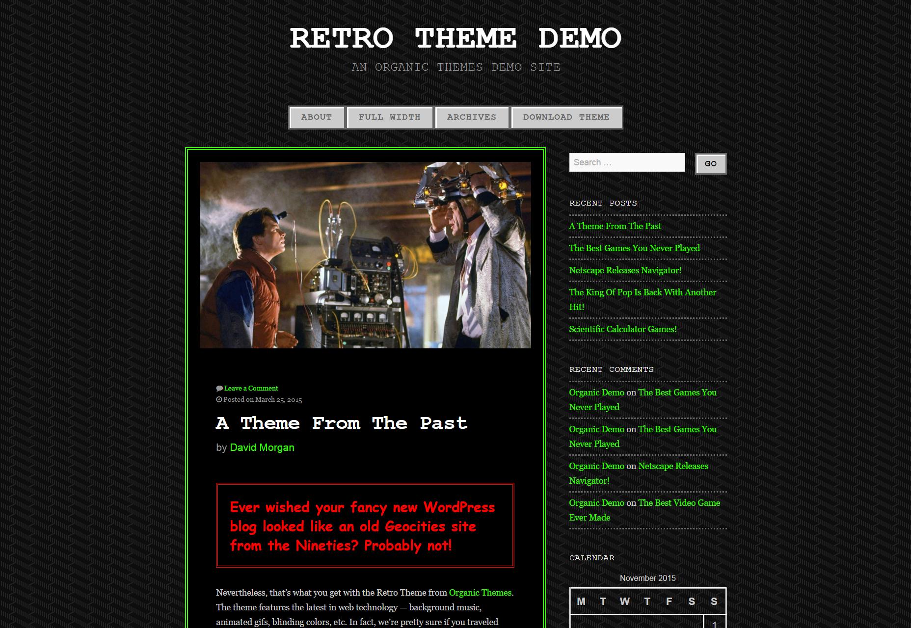 Tema retro: temas clásicos de WordPress inspirados en videojuegos